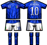 ITALY Hattrick NT KIT, by Globetroter
