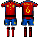 Spain HT & NT Kit  by Globetroter, Pass: roja12